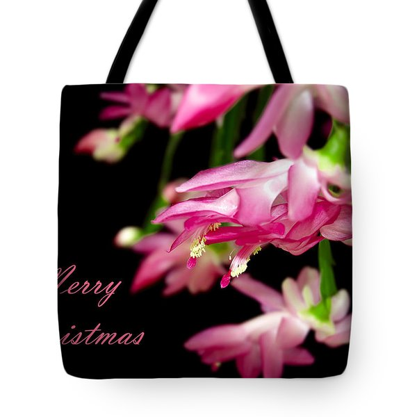 Christmas Cactus Greeting Card Tote Bag by Carolyn Marshall