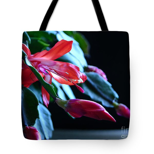 Christmas Cactus In Bloom Tote Bag