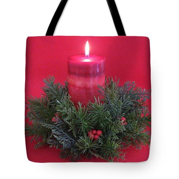 Christmas Candle - 1 Tote Bag