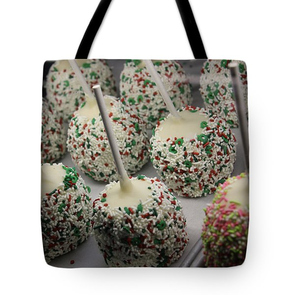 Christmas Candy Apples Tote Bag by Bill Owen