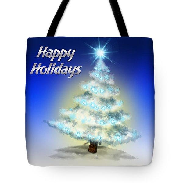 Christmas Card 4 Tote Bag by Mark Ashkenazi