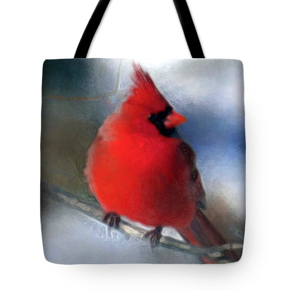 Christmas Card - Cardinal Tote Bag
