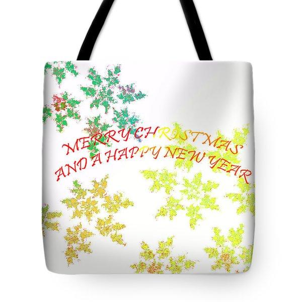 Christmas Card I Tote Bag by Tatjana Popovska