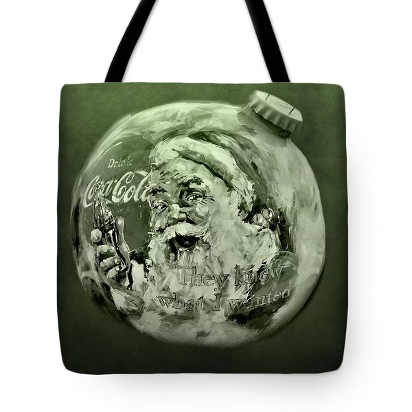 Christmas Coca Cola Tote Bag by Dan Sproul