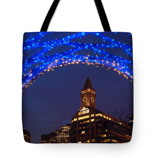 Christmas Coluimbus Park Boston Tote Bag