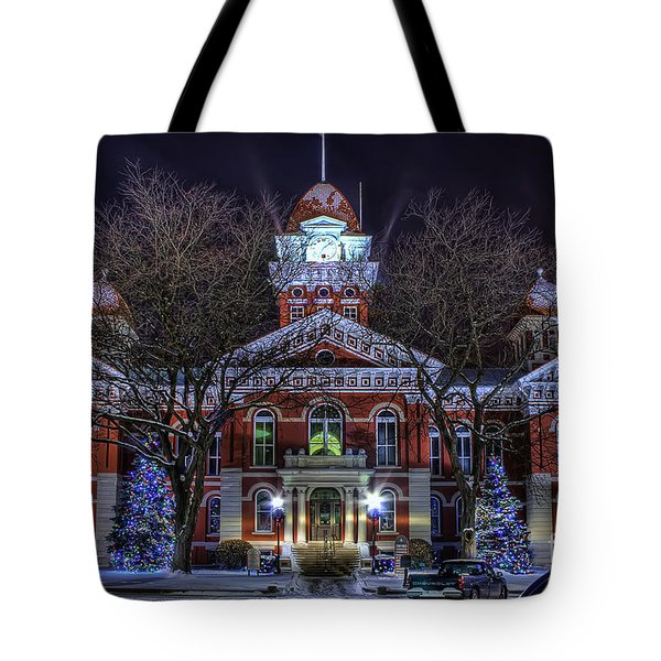 Christmas Courthouse Tote Bag