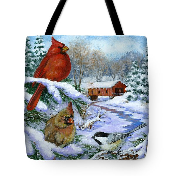Christmas Creek Tote Bag