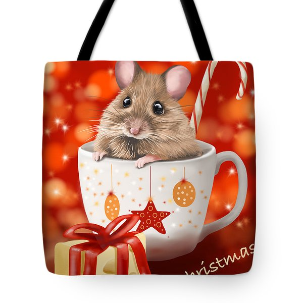 Christmas Cup Tote Bag by Veronica Minozzi