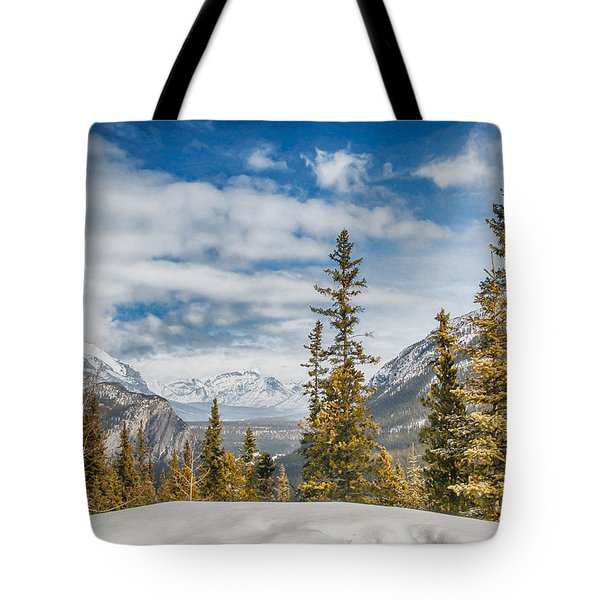 Christmas Day In Banff Tote Bag