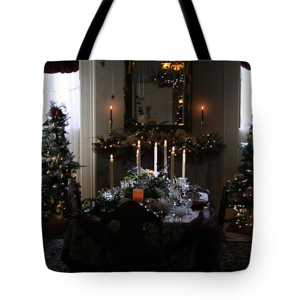 Christmas Dinner At The Mansion Tote Bag by Kay Novy