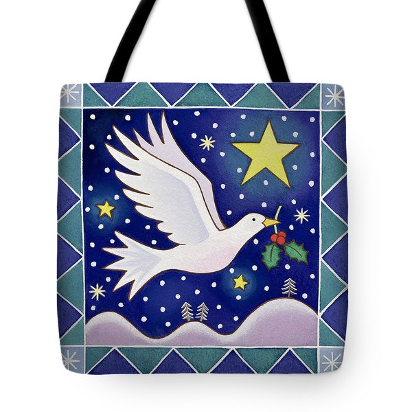 Christmas Dove  Tote Bag by Cathy Baxter
