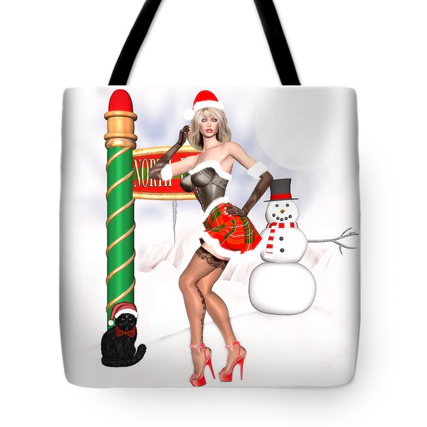 Christmas Elf Cleo Tote Bag by Renate Janssen