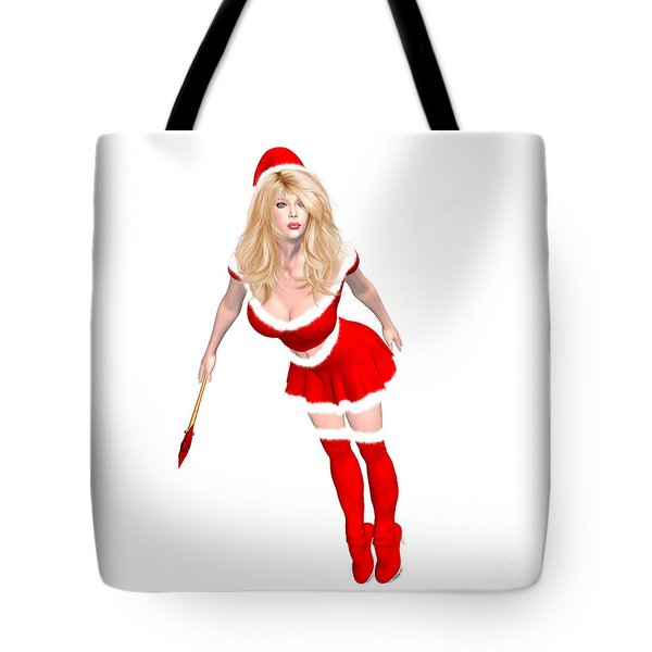 Christmas Elf Elise Tote Bag by Renate Janssen