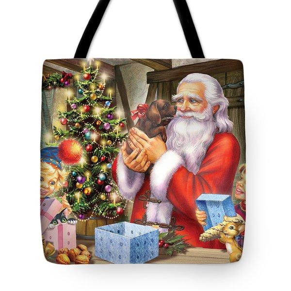 Christmas Eve Tote Bag by Zorina Baldescu