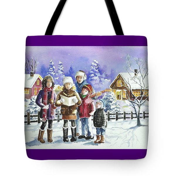 Christmas Family Caroling Tote Bag