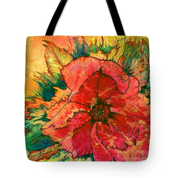 Christmas Flower Tote Bag