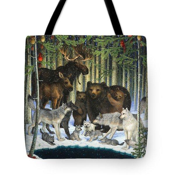 Christmas Gathering Tote Bag