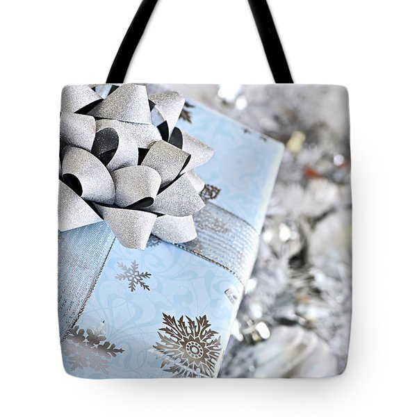 Christmas Gift Box Tote Bag