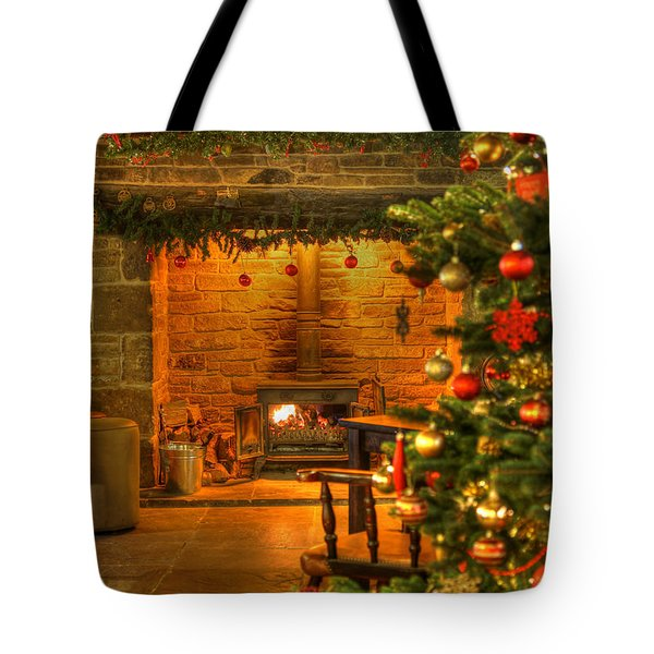 Tote Bag featuring the photograph Christmas Glow by David Birchall