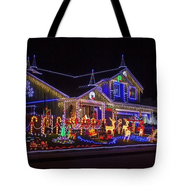Christmas House Tote Bag by Garry Gay