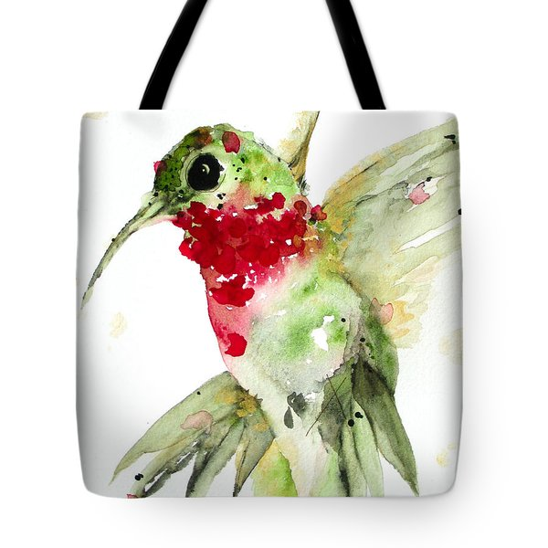 Christmas Hummer Tote Bag by Dawn Derman