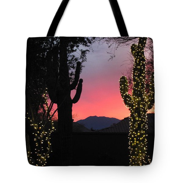 Christmas In Arizona Tote Bag
