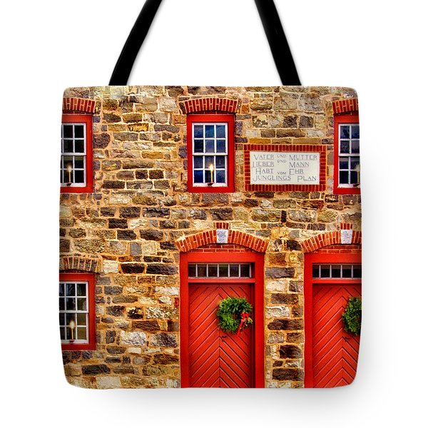 Christmas In Bethlehem Pa Tote Bag