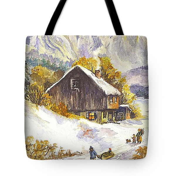 A Winter Wonderland Part 1 Tote Bag by Carol Wisniewski