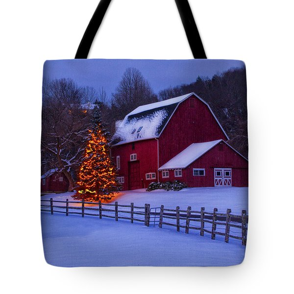 A Very Connecticut Christmas Tote Bag