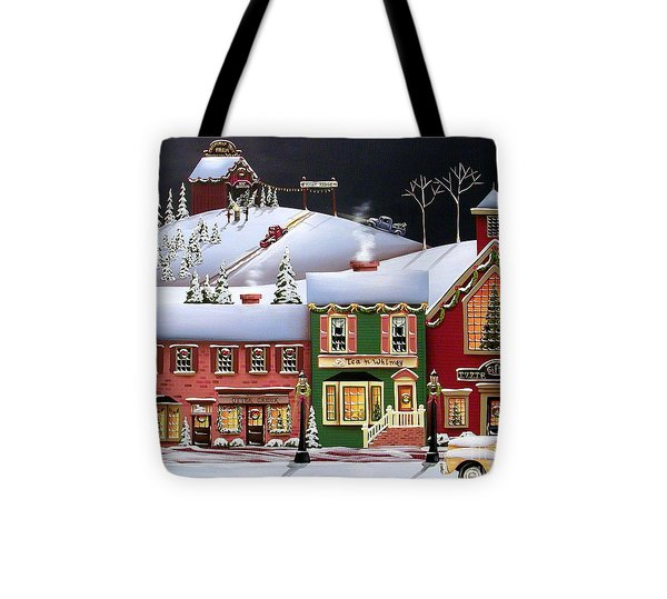 Christmas In Holly Ridge Tote Bag by Catherine Holman