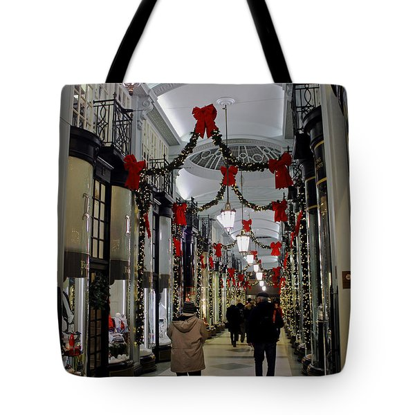 Christmas In Piccadilly Arcade Tote Bag