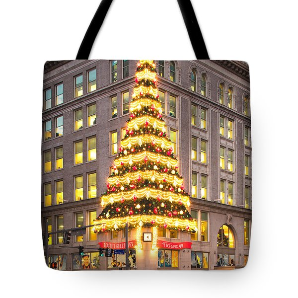 Christmas In Pittsburgh  Tote Bag by Emmanuel Panagiotakis