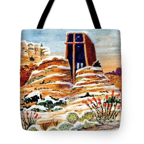 Christmas In Sedona Tote Bag