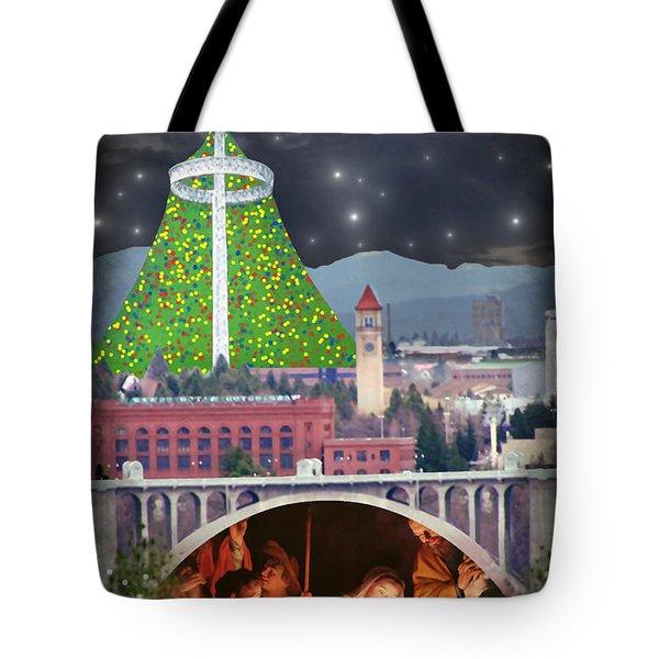 Christmas In Spokane Tote Bag