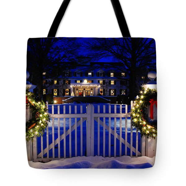 Christmas In The Country Tote Bag