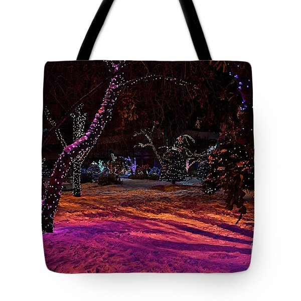 Christmas In The Park Tote Bag