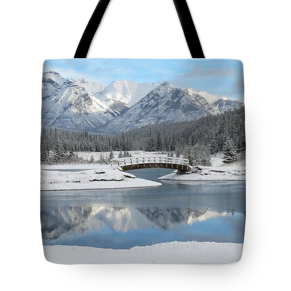 Christmas In The Rockies Tote Bag