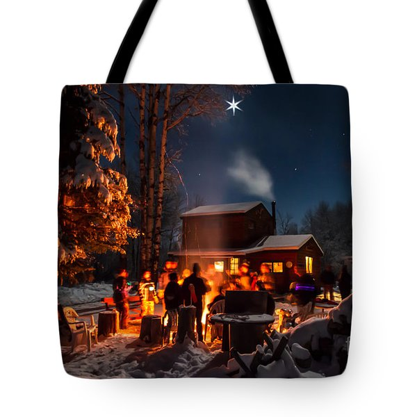 Christmas In The Woods Tote Bag