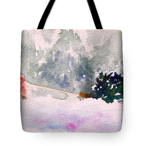 Christmas Is Coming Tote Bag by Yoshiko Mishina