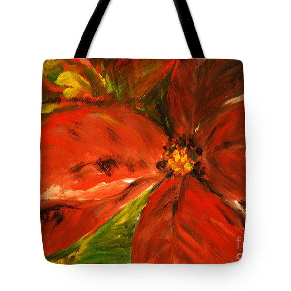 Tote Bag featuring the painting Christmas Star by Jasna Dragun