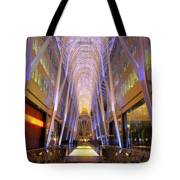 Christmas Light Show Tote Bag