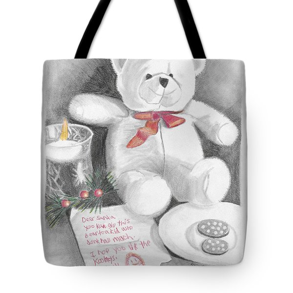 Christmas List Tote Bag
