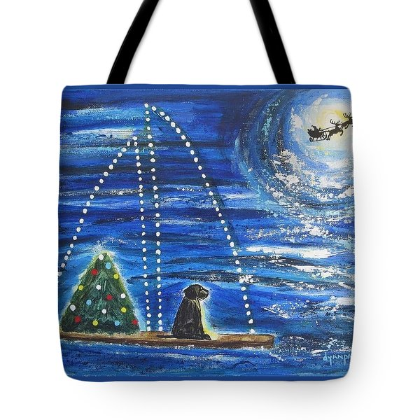 Tote Bag featuring the painting Christmas Magic by Diane Pape