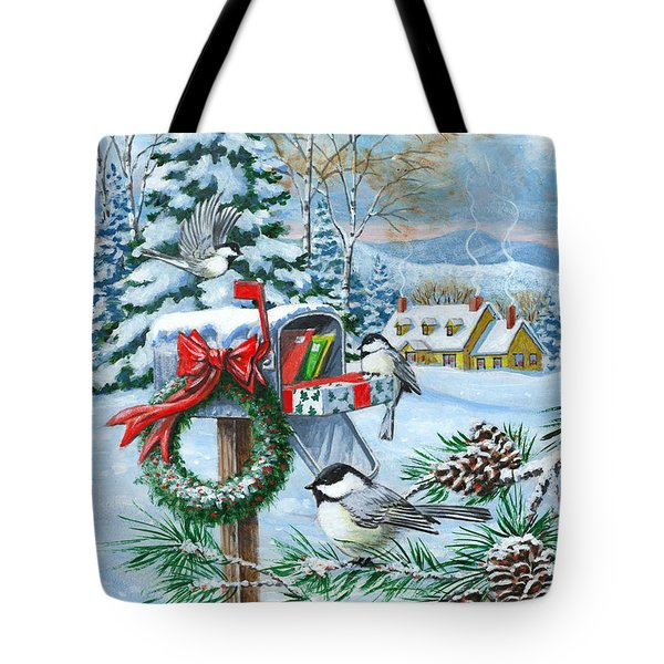 Christmas Mail Tote Bag