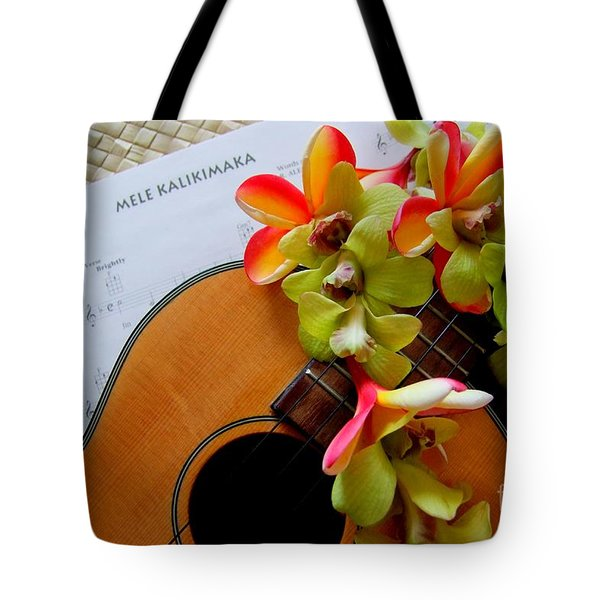 Christmas Mele Tote Bag by Mary Deal