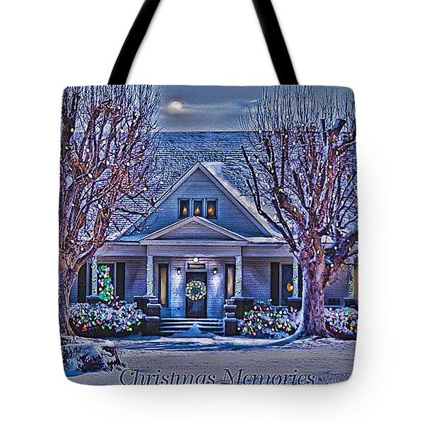 Christmas Memories Tote Bag by Bonnie Willis