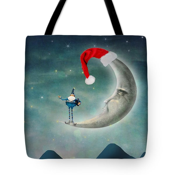 Christmas Moon Tote Bag