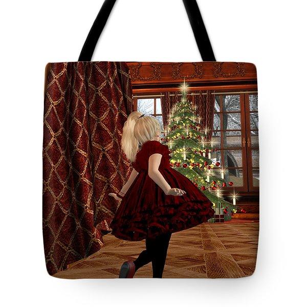 Christmas Morning Tote Bag