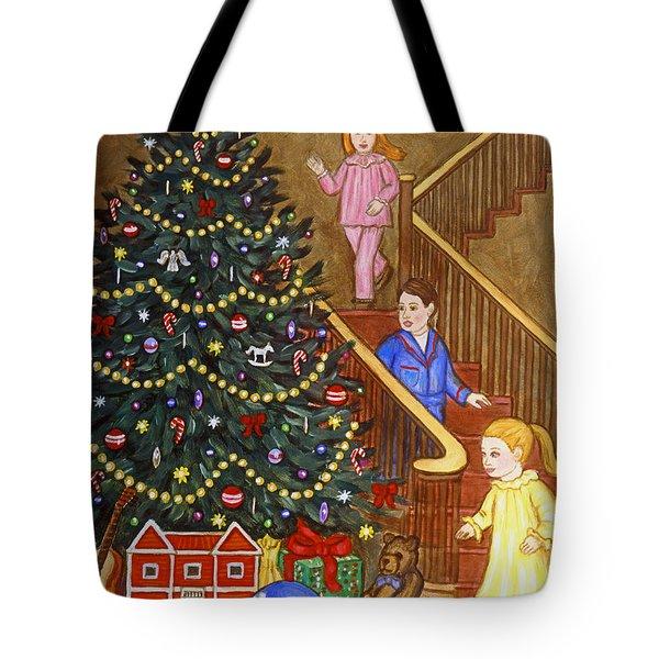 Christmas Morning Tote Bag by Linda Mears