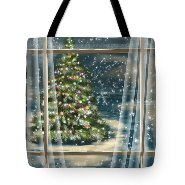 Christmas Night Tote Bag by Veronica Minozzi
